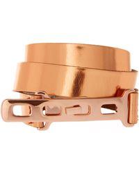 ASOS - Asos Leather Hook Detail Skinny Belt - Lyst