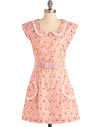ModCloth Breath Of Fresh Prairie Dress in Strawberry - Lyst