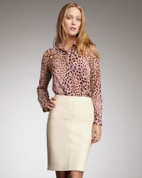 Graham & Spencer - Topstitched Pencil Skirt - Lyst