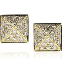 Anita Ko Pyramid 18-Karat Gold Diamond Stud Earrings - Lyst