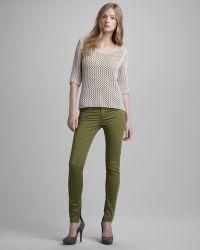 Burberry Brit | Skinny Anklezip Pants Asparagus | Lyst