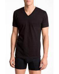 Calvin Klein Basic V-Neck T-Shirt, (2-Pack) - Lyst