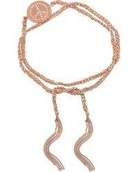 Carolina Bucci Lucky 18karat Rose Gold Diamond Bracelet - Lyst
