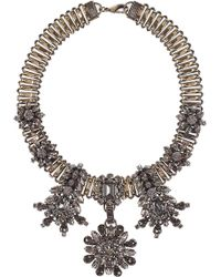 Emilio Pucci - Brass and Crystal Necklace - Lyst
