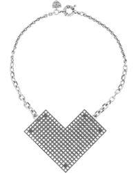 Giles & Brother - Perforated Oxidized Silverplated Necklace - Lyst