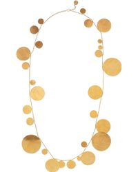 Herve Van Der Straeten - 24karat Goldplated Disc Necklace - Lyst