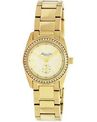 Kenneth Cole Womens Gold Ion Plated Stainless Steel Bracelet 34mm - Lyst