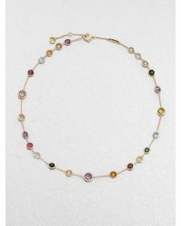 Marco Bicego Jaipur Mini Semi-Precious Multi-Stone 18K Yellow Gold Station Necklace - Lyst