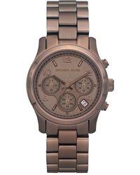 Michael Kors Womens Chronograph Bronze Tone Stainless Steel Bracelet 39mm - Lyst