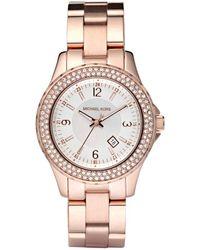 Michael Kors Women'S Mini Madison Rose Gold-Tone Stainless Steel Bracelet Watch 33Mm Mk5403 - Lyst