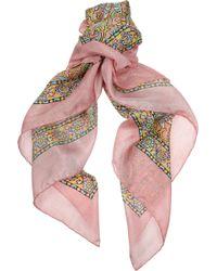 Ralph Lauren Collection - Printed Silk Scarf - Lyst