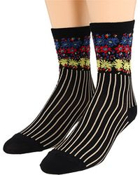 Anna Sui - Floral Stripe Sock 2 Pack - Lyst