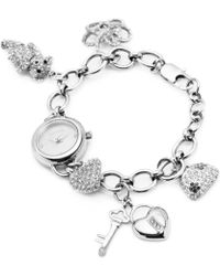 Carolee - Womens Stainless Steel Charm Bracelet 22mm - Lyst