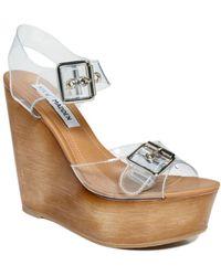 Steve Madden Wizard Wedge Sandals - Lyst