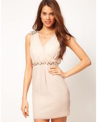 ASOS Collection Wrap Dress with Embellishment - Lyst