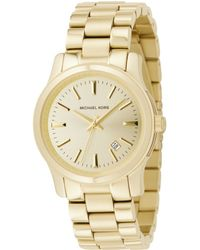 Michael Kors Women'S Runway Gold Ion-Plated Stainless Steel Bracelet Watch 38Mm Mk5160 - Lyst