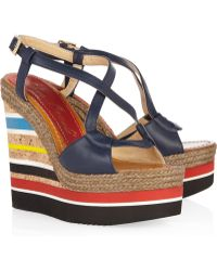 Paloma Barceló Formentera Leather Wedge Sandals - Lyst