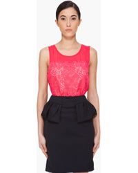 Marc By Marc Jacobs Red Silk Muriel Tank Top - Lyst