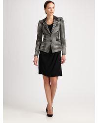 Armani Tech Cady Drape Skirt - Lyst