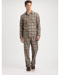 Burberry Check Pajama Set - Lyst