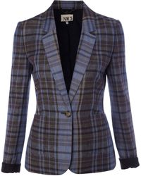 NW3 by Hobbs - Nw3 Checked Blazer - Lyst