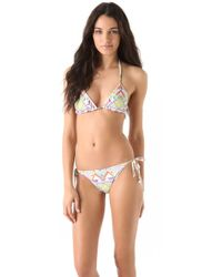 Mara Hoffman Print String Bikini Set - Lyst