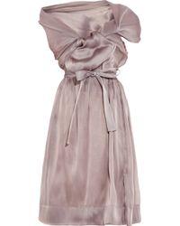 Vivienne Westwood Gold Label Riding Asymmetric Silkorganza Dress - Lyst
