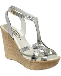 Callisto Monaco Wedge Sandals - Lyst