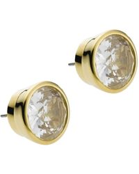 Michael Kors Crystal Stud Earrings gold - Lyst