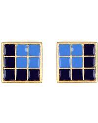 Rachel Roy | Pyramid Square Stud Earrings | Lyst