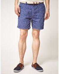 Scotch & Soda Scotch Soda Star Pattern Shorts - Lyst