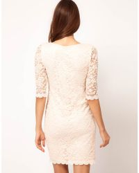 Asos Asos Bodycon Dress in Lace - Lyst