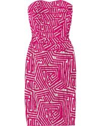 Hervé Léger Patterned Bandage Dress - Lyst