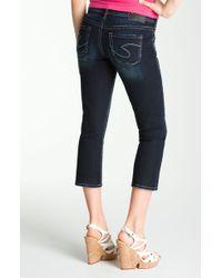 Silver Jeans Co. Flare Leg Capri Jeans - Lyst