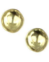 Jones New York - Gold Tone Button Clip On Earrings - Lyst