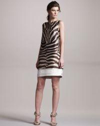 Giambattista Valli Zebra-print Shift Dress - Lyst