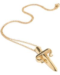 Leivan Kash - Dagger Necklace - Rose - Lyst