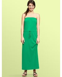 Gap Strapless Maxi Dress - Lyst