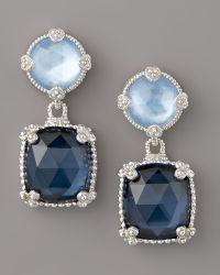 Judith Ripka - Quartz Doublet Drop Earrings, Blue - Lyst