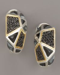 Kara Ross - Black Onyx Omega Huggie Earrings - Lyst