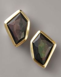 Kara Ross - Mother-of-pearl Earrings, Black - Lyst