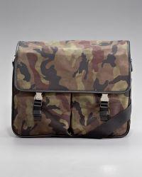 Prada Camouflage Messenger - Lyst
