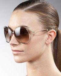 Roberto Cavalli Glam Metal Sunglasses - Lyst