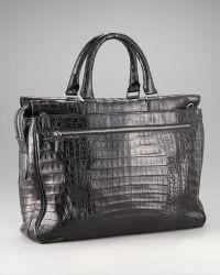 Santiago Gonzalez - Ziptop Crocodile Briefcase  - Lyst