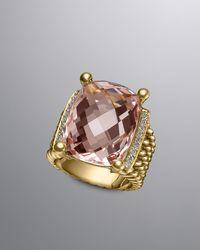 David Yurman - Wheaton Ring Morganite 20x15mm - Lyst