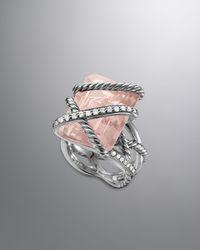 David Yurman - Cable Wrap Ring Rose Quartz - Lyst
