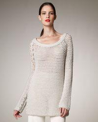 Donna Karan New York Open-stitch Sweater - Lyst