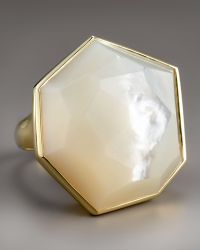 Ippolita - Large Faceted Mother-of-pearl Ring - Lyst