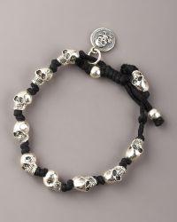 King Baby Studio Knotted Skull Bracelet - Lyst