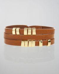 Linea Pelle | Sliced Leather Bracelet | Lyst
